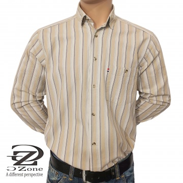 Мъжка риза варен памук с дълъг ръкав