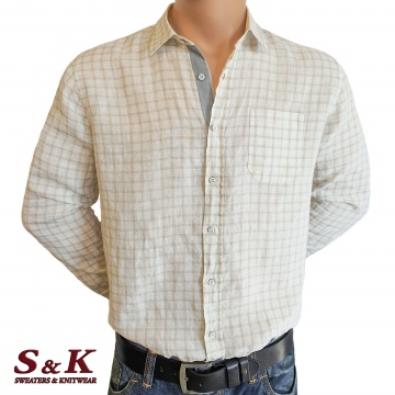 Men's shirt 100% linen with long sleeves