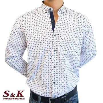 Мъжка риза с цветни орнаменти