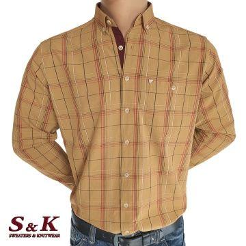 Мъжка памучна риза на едро каре