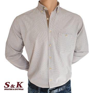 Мъжка риза 100% памук ситно каре