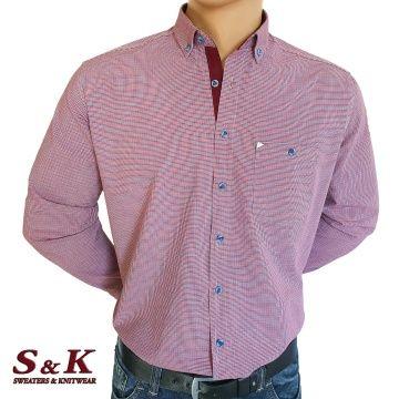 Мъжка риза 100% памук много ситно каре