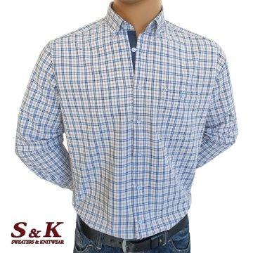 Мъжка риза 100% памук светло каре