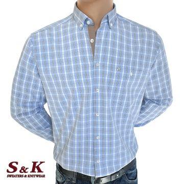 Елегантна мъжка карирана риза 100% памук