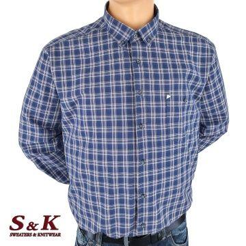 Големи мъжки ризи каре