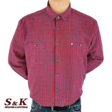 Големи мъжки ризи каре с два джоба