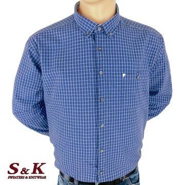 Големи мъжки ризи каре с джоб
