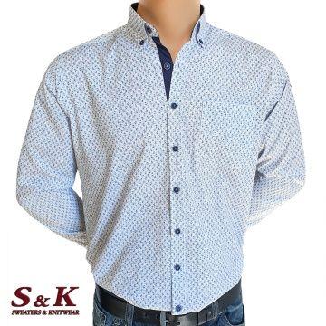 Елегантна мъжка риза с цветни орнаменти