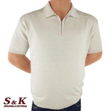 Финна мъжка плетена блуза в големи размери