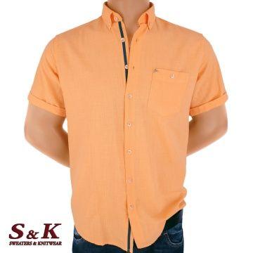 Casual Men's Shirt 50% Linen 50% Cotton 1122