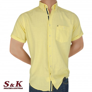 Men's Shirt 50% Linen 50% Cotton with short sleeves