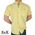 Мъжка Риза 50% Лен 50% Памук с къс ръкав