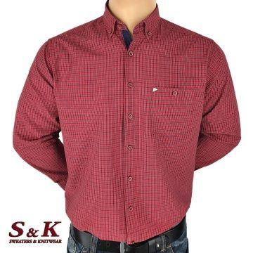 Мъжка памучна карирана риза 1799