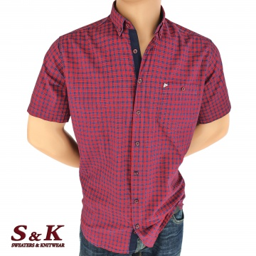 Men's plaid shirt 100% cotton 1246