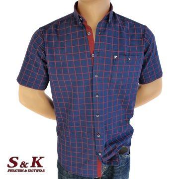 Men's cotton plaid shirt with pocket 1875