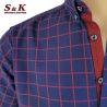 Мъжка памучна риза каре с джоб 1875