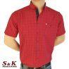 Мъжка памучна риза каре с джоб 1890
