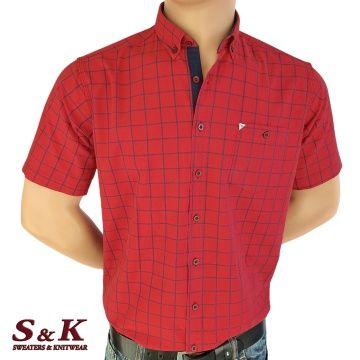 Men's cotton plaid shirt with pocket 1890