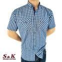 Мъжка памучна риза каре с два джоба 1920