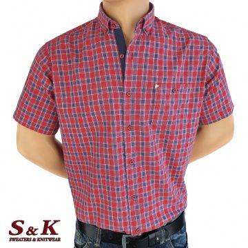Мъжка памучна риза каре 1178
