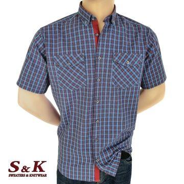 Мъжка риза 100% памук каре с два джоба 1922