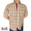 Големи мъжки памучни ризи каре 621