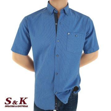 Elegant men's stripped shirt 100% cotton 1566