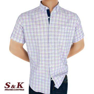 Men's colored plaid shirt