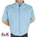 Големи мъжки памучни ризи каре 581