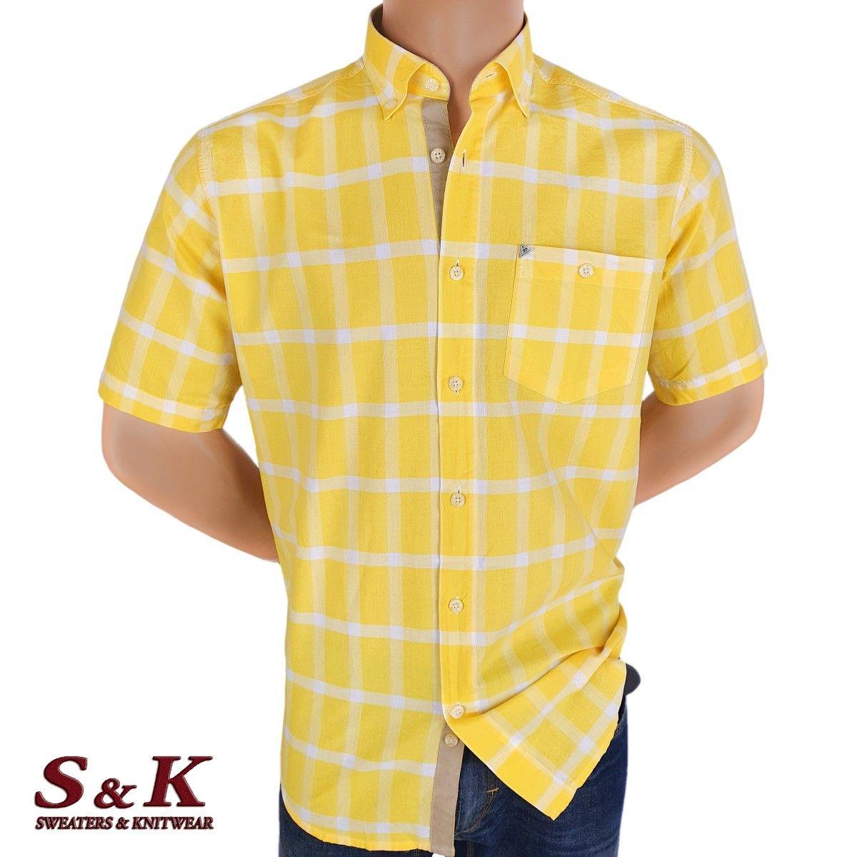 Мъжка риза варен памук в каре 326
