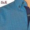 Мъжка риза 100% памук ситно каре 1761