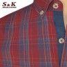 Мъжка риза варен памук в каре 1951