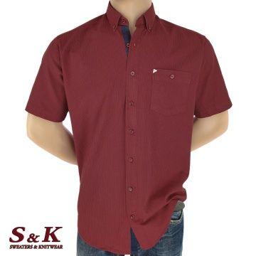 Мъжка риза 100% памук в семпло райе 1567