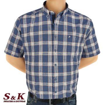 Големи мъжки карирани ризи 50% Лен и 50% Памук 540