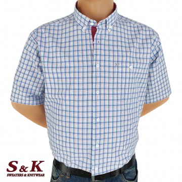 Големи мъжки памучни ризи каре 625