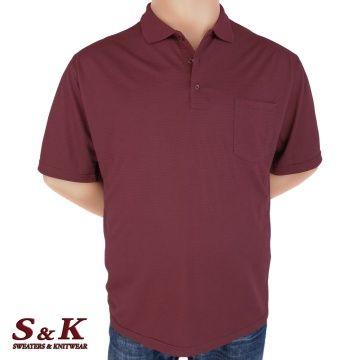 Мъжка блуза с яка в големи размери 2007