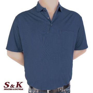 Мъжка блуза с яка в големи размери 2007-1