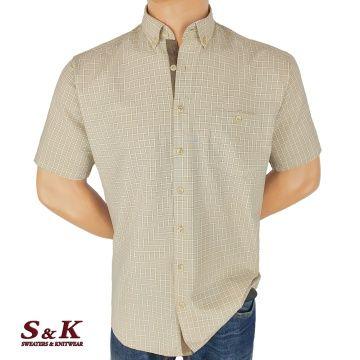 Мъжка риза варен памук в каре 1967