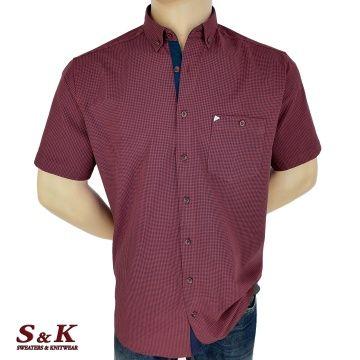 Мъжка риза 100% памук ситно каре 1760