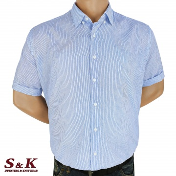 Големи мъжки памучни ризи райе с ефектен принт 225