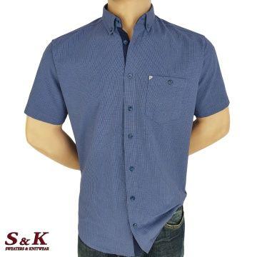 Мъжка Риза 100% памук ситно каре 01-1802
