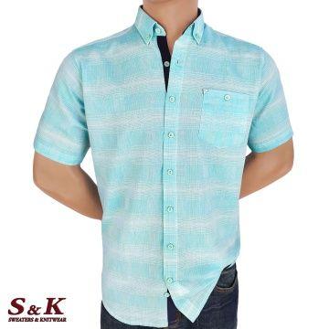 Мъжка риза 50% лен и 50% памук 2060-1