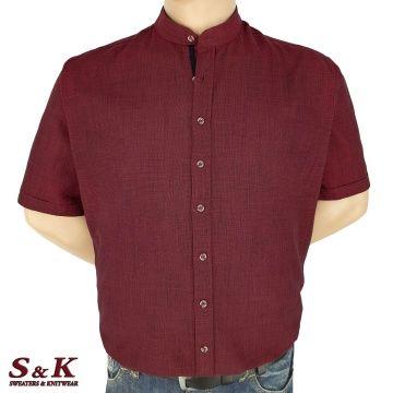Големи мъжки ризи 50% Лен и 50% Памук с войнишка яка 106