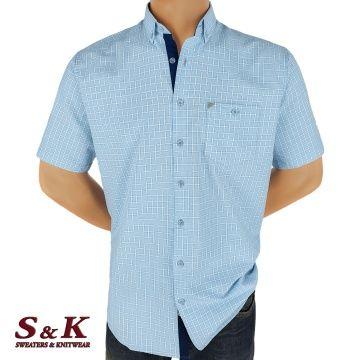 Мъжка риза варен памук в каре 2199