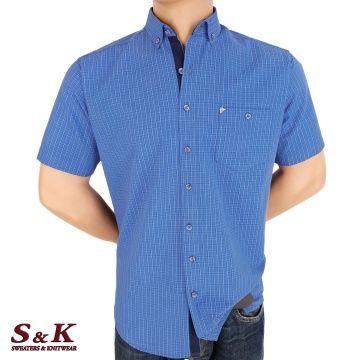 Мъжка риза 100% памук каре 2178