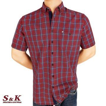 Мъжка риза 100% памук каре 2203