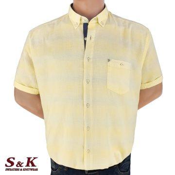 Големи мъжки ризи 50% Лен и 50% Памук 2060-G