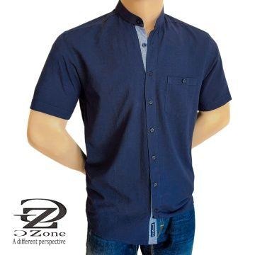 Мъжка риза Лен/Памук с войнишка яка - 2001
