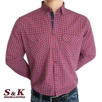Мъжка риза 100% памук с два джоба