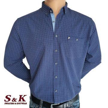 Мъжка риза каре с джоб